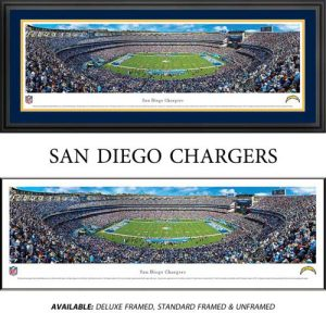 San Diego Chargers Framed Stadium Panoramic