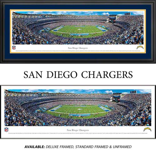 San Diego Chargers Established: San Diego Chargers Framed Stadium Panoramic