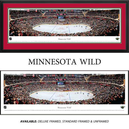 Minnesota Wild Framed Stadium Panoramic