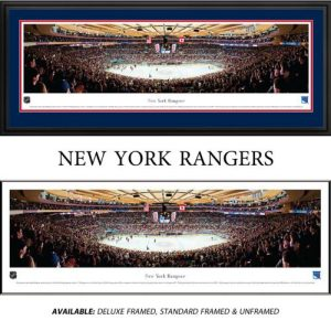 New York Rangers Framed Stadium Panoramic