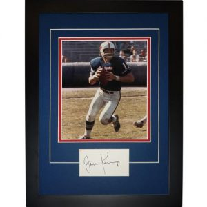 "Jack Kemp Autographed Buffalo Bills ""Signature Series"" Frame"