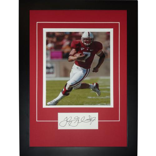 """Toby Gerhart Autographed Stanford Cardinal """"Signature Series"""" Frame"""