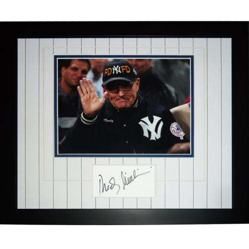 Rudy Giuliani Autographed New York Yankees (NYPD-FD Hat)
