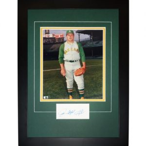 "Jim ""Catfish"" Hunter Autographed Oakland A's ""Signature Series"" Frame"