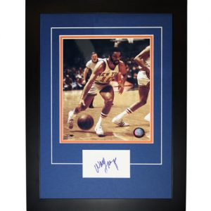 "Walt Frazier Autographed New York Knicks ""Signature Series"" Frame"
