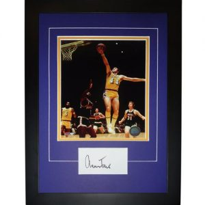 "Jerry West Autographed Los Angeles Lakers ""Signature Series"" Frame"