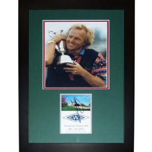 """Greg Norman Autographed 2-Time British Open Champion """"Signature Series"""" Frame"""