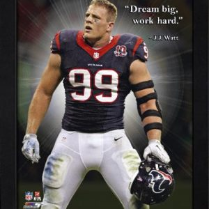 "JJ Watt Houston Texans Framed 11x14 ""Pro Quote"""