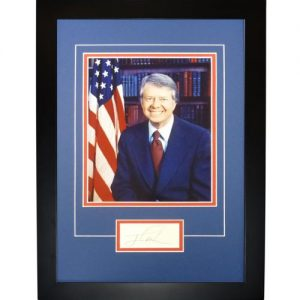 "President Jimmy Carter Autographed ""Signature Series"" Frame"