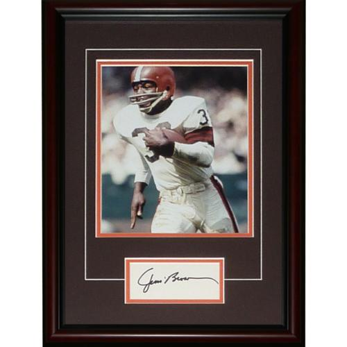 "Jim Brown Autographed Cleveland Browns ""Signature Series"" Frame"