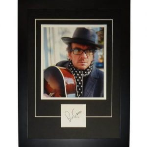 "Elvis Costello Autographed Music ""Signature Series"" Frame"