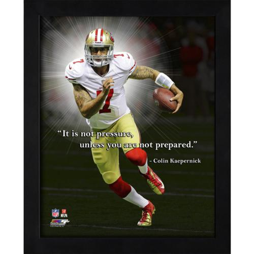 "Colin Kaepernick San Francisco 49ers Framed 11x14 ""Pro Quote"""