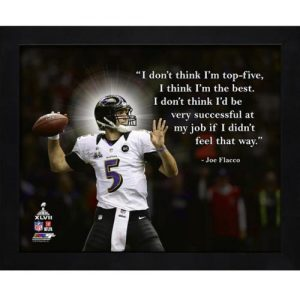 "Joe Flacco Baltimore Ravens Framed 11x14 ""Pro Quote"""