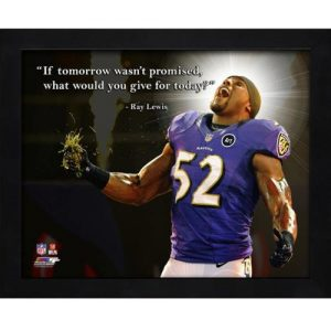 "Ray Lewis Baltimore Ravens (Celebrating) Framed 11x14 ""Pro Quote"""