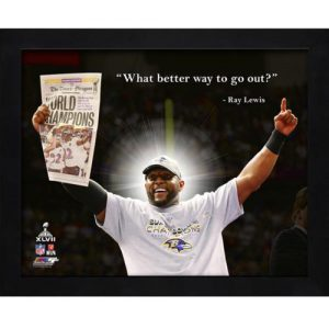 """Ray Lewis Baltimore Ravens (SB Newspaper) Framed 11x14 """"Pro Quote"""""""