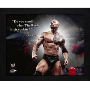 "The Rock Dwayne Johnson WWE Wrestling Framed 11x14 ""Pro Quote"""