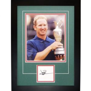"David Duval Autographed 2001 British Open (Trophy) ""Signature Series"" Frame"