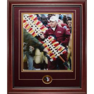 Bobby Bowden Autographed Florida State FSU Seminoles (With Spear) Deluxe Framed 11x14 Photo