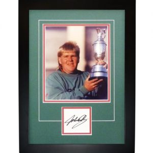 "John Daly Autographed 1995 British Open (Trophy) ""Signature Series"" Frame"