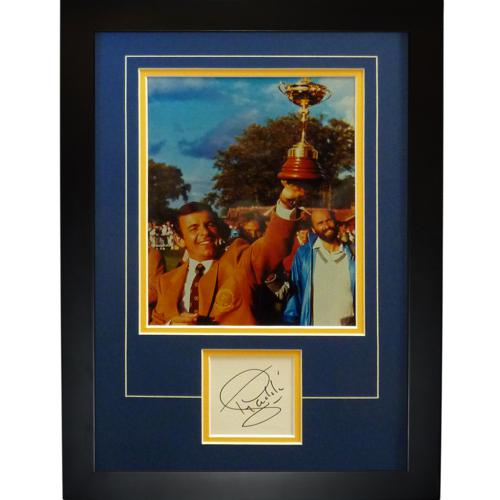 "Tony Jacklin Autographed Ryder Cup (Team Europe) ""Signature Series"" Frame"