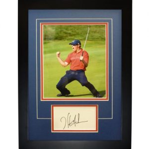 "Hunter Mahan Autographed 2008 Ryder Cup (Team USA) ""Signature Series"" Frame"