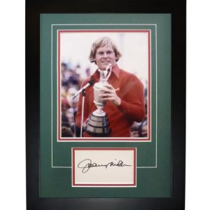 """Johnny Miller Autographed 1976 British Open (Trophy) """"Signature Series"""" Frame"""
