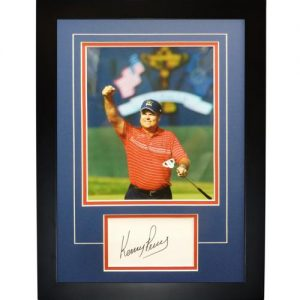 """Kenny Perry Autographed 2008 Ryder Cup (Team USA) """"Signature Series"""" Frame"""