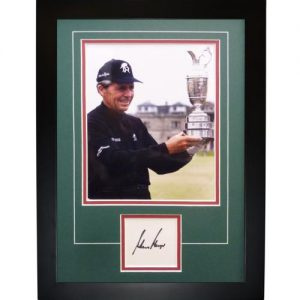 "Gary Player Autographed 3-Time British Open Champ (Trophy) ""Signature Series"" Frame"