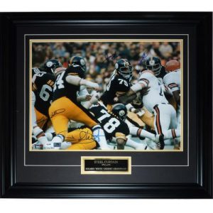 Steel Curtain (Holmes, White, Greenwood, Greene) Autographed Pittsburgh Steelers Deluxe Framed 16x20 Photo