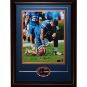 Tim Tebow Autographed Florida Gators (Tebowing) Deluxe Framed 11x14 Photo - Tebow Holo