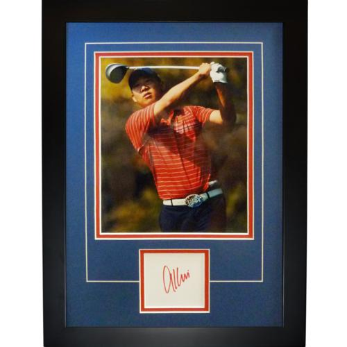 """Anthony Kim Autographed 2008 Ryder Cup (Team USA) """"Signature Series"""" Frame"""