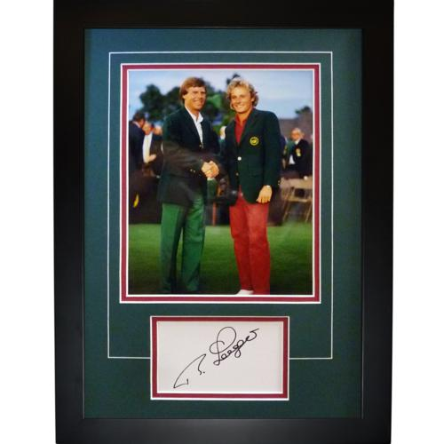"Bernhard Langer Autographed 2-Time Masters Champ (Green Jacket) ""Signature Series"" Frame"