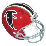 Deion Sanders Autographed Atlanta Falcons (Throwback Red) Deluxe Full-Size Replica Helmet