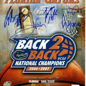 """Florida Gators """"Starting 5"""" (Brewer , Green , Horford , Humphrey , Noah) Autographed (Back-To-Back Collage) 11x14 Photo"""