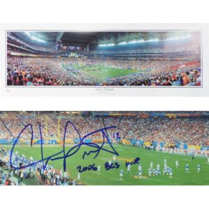 "Chris Leak Autographed Florida Gators (2007 BCS Championship) Panoramic Photo w/ ""06 Champs"