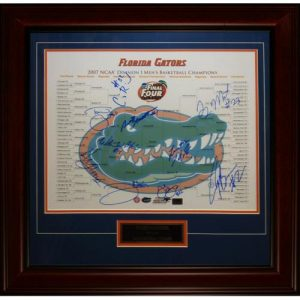 2006-07 Florida Gators Team Autographed Final Four (Bracket) Deluxe Framed 16x20 Photo