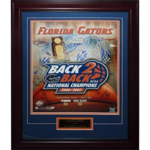 2006-07 Florida Gators Team Autographed Final Four (B2B Champs Composite) Deluxe Framed 16x20 Photo