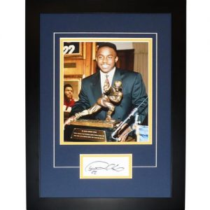"Desmond Howard Autographed Michigan Wolverines (Heisman) ""Signature Series"" Frame"