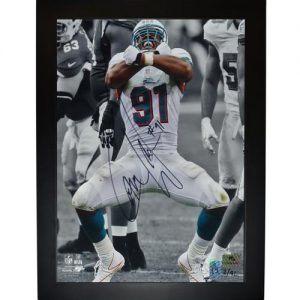 Cameron Cam Wake Autographed Miami Dolphins (Spotlight Sack) 11x14 Framed Photo - Limited Edition of 91