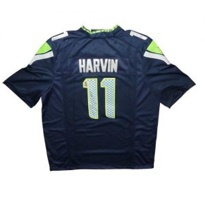 Percy Harvin Autographed Seattle Seahawks (Blue #11) Nike Jersey - Harvin Holo