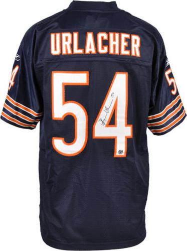 new arrival a14f6 4ad3e Brian Urlacher Autographed Chicago Bears (Blue #54) Reebok Jersey