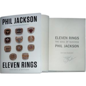 "Phil Jackson Autographed ""Eleven Rings"" Book"