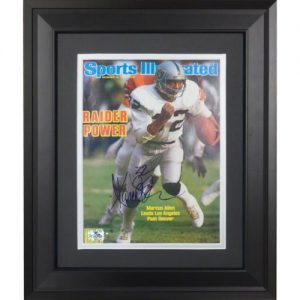 Marcus Allen Autographed Oakland Raiders (12/16/85) Deluxe Framed Sports Illustrated Magazine
