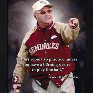 "Bobby Bowden Florida State FSU Seminoles (Pointing) Framed 11x14 ""Pro Quote"" #1"
