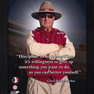 "Bobby Bowden Florida State FSU Seminoles (Arms crossed) Framed 11x14 ""Pro Quote"" #2"
