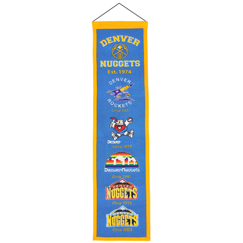 Denver Nuggets Logo Evolution Heritage Banner