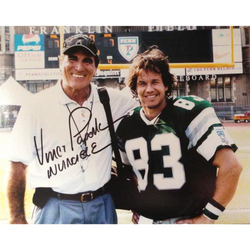 sports shoes c0eee 079cf Vince Papale Autographed Philadelphia Eagles (with Mark Wahlberg) 8x10  Photo w/