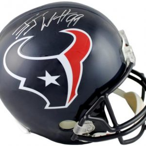 J.J. Watt Autographed Houston Texans Deluxe Full-Size Replica Helmet