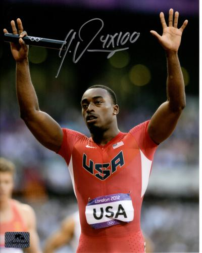 Jeff Demps Autographed Olympic Track (London 2012) 8x10 Photo