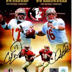 Charlie Ward And Chris Weinke Autographed FSU Florida State Seminoles (Collage) 8x10 Photo